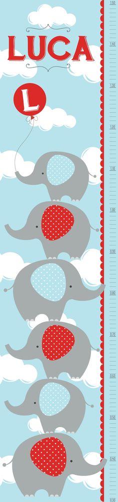 Vinilo Auto adhesivo medidor Elefantes!!!  Nombre personalizado!!!