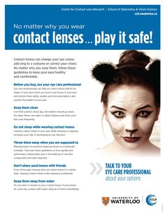 Patient handout: Play it safe no matter what type of contact lens! | Contact Lens Update
