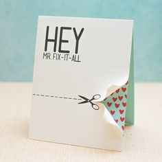 Create a fun greeting card for man. Just follow the step-by-step tutorial with photos. Lots of DIY handmade card inspiration here.