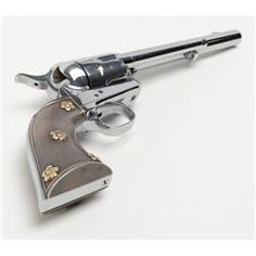 "Colt Single Action Army revolver in .45 long Colt caliber with 7 ½"" barrel, bright re-nickeled finish"