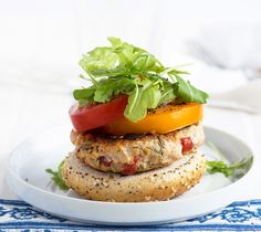 From our blog -- we absolutely love these Phase 1 Chicken Burgers! They're loaded with roasted red peppers, lemon, fresh herbs -- just so delicious.