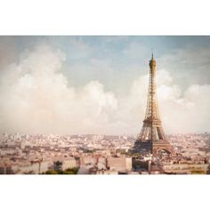 Paris Photography Paris Above the Clouds, Eiffel Tower, Paris Decor,... (95 BRL) ❤ liked on Polyvore featuring home, home decor, wall art, urban wall art, wall home decor, paris home decor, photographic wall art and cloud wall art