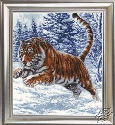 Tiger's Jump - Cross Stitch Kits by ZOLOTOE RUNO - DZH-019