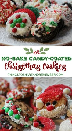 No Bake Candy Coated Christmas Cookies #GiftDeliciously #ad