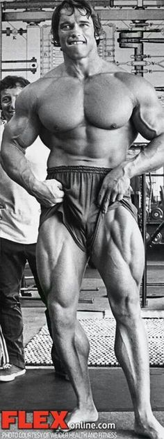 Arnold Schwarzenegger - This is an awesome pic. However, when I look at these types of posters. I just want to label the various muscles. This would be a great way to introduce science into the classrooms? xx :)