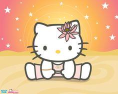 Hello Kitty Yoga Cutie Wallpaper (Fondos de Escritorio)