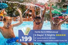""">Diversión familiar en Williamsburg - Busch Gardens and Water Country USA</font></font>cheap vacations for the family Vacation Deals, Vacation Resorts, Vacation Trips, Travel Deals, Gatlinburg Vacation, Travel Hacks, Travel Essentials, Budget Travel, Travel Tips"
