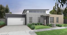 Like the sharpness of the garage door on the surrounding render. Exterior Paint Colors For House, Exterior Colors, House Colors, House Elevation, Building A New Home, Facade House, Home Reno, House Painting, Cladding