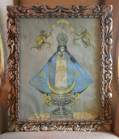 Antique Infant of Prague Framed Print Wood Frame by edithandevelyn, $75.00
