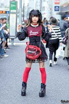 cute goth punk style ... Yuka, 19 years old, student   27 May 2016   #Fashion #Harajuku (原宿) #Shibuya (渋谷) #Tokyo (東京) #Japan (日本)