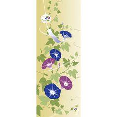 横浜から「新しい和」を発信する、テキスタイルブランド「濱文様」の絵てぬぐい 風鈴あさがおです。