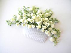 Lily of the Valley hair comb by VaVaRa on Etsy