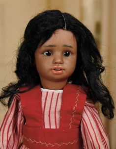 Sanctuary: A Marquis Cataloged Auction of Antique Dolls - March 19, 2016: Petite German Bisque Character, 1358, by Simon and Halbig with Cafe-au-Lait Complexion
