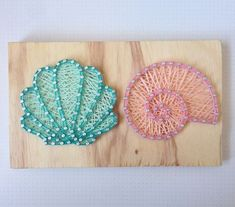 Sea shells string art Source by String Wall Art, Nail String Art, String Crafts, String Art Templates, String Art Patterns, Crafts To Make, Arts And Crafts, Diy Crafts, Resin Crafts