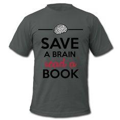 Für mehr Bildung, anregung zum Lesen, Denken. Gegen Verblödung und Smartphones. Rettet ein Gehirn lest ein Buch! Lernen, Bilden, Weisheiten, lustige Sprüche,