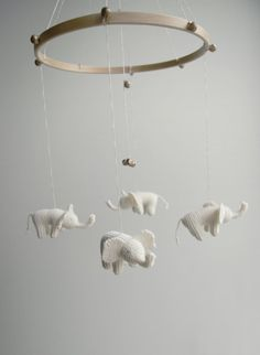 Elephant Baby mobile by Patricija, $109.00 but I think I could make something like this for much cheaper!