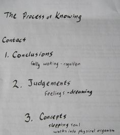 Dr. Steiner's Process of knowing, from Study of Man lecture V