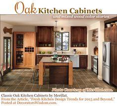 Merillat classic cannonsburg maple cotton with tuscan glaze island and tolani oak kona walls - Fresh new trends in interior design aesthetically surprising ...