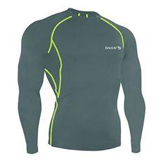 ab04f430e09f Amazon.com  Baleaf Men s Cool Dry Skin Fit Long Sleeve Compression Shirt   Sports   Outdoors