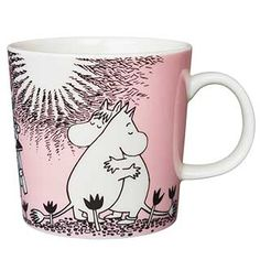 "Moomin Mugs from Arabia – A Complete Overview (2019) 12. Love / Rakkaus (1996–). The motif comes mainly from the story ""Moomin and the Martians""."