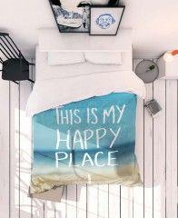Happy Place-JUNIQE Bettwäsche