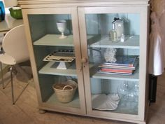 Love glass fronted cupboards - from Follit