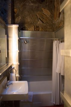 Frank Lloyd Wright's shower, Taliesin West, Scottsdale, Arizona
