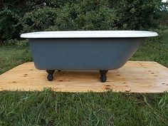 antique clawfoot tub riverstone gray vintage by