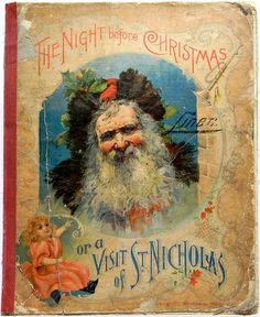 1896 The Night Before Xmas Antique Santa Claus Book Decoration Ornament Vtg RARE | eBay