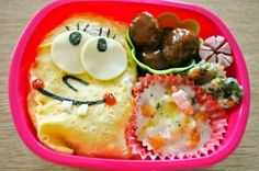 """SpongeBob SquarePants"" - japanese recipe/オムライスde簡単スポンジボブ★キャラ弁"
