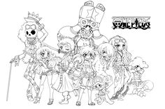 The Straw Hat Crew ::One Piece Mega Lineart:: by YamPuff.deviantart.com on @DeviantArt
