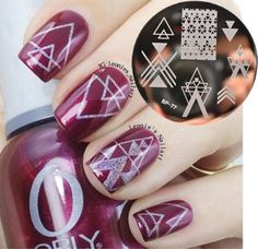 0.92$ (Buy here: http://alipromo.com/redirect/product/olggsvsyvirrjo72hvdqvl2ak2td7iz7/32482228641/en ) BORN PRETTY Negative Space Nail Art Stamping Stamp Template Image Plates Cool Triangle Nail Stamp Plate BP77 for just 0.92$