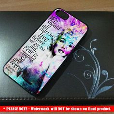 Marilyn Monroe Quote - for IPhone 4/4S Case IPhone 5 Case Hard Cover Hard Case #hardcase #marilynmonroe #monroe #marylin #girl #girls #woman #fashion #phonecase #phonecases