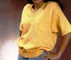 6 Classic Top with Cut Lapped V-Neck by ShortCutShapings on Etsy