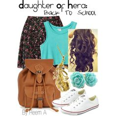 Daughter Of Hera (Blessed by Hera) Back To School Outfit, Cabin 2, Percy Jackson Inspired Outfit