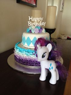 Rarity inspired birthday cake