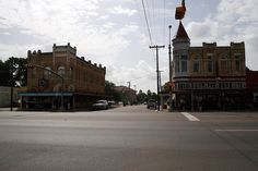 intersection of north esplanade and east church streets, cuero by Exquisitely Bored in Nacogdoches, via Flickr