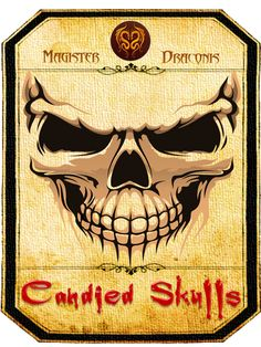 Halloween Sweet Jar Label - Skulls