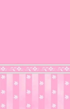 Dollhouse Pink Floral Wallpaper.