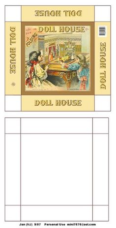 Miniature Printables - Dollhouse box.