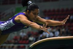 Dipa Karmakar, who will become the first Indian woman to compete in an Olympic gymnastics competition, got a shout-out from Prime Minister Narendra Modi today. Gymnastics Competition, Gymnastics Team, Artistic Gymnastics, Olympic Gymnastics, Indiana, Rio Games, Olympic Flame, Olympic Medals, Olympic Athletes