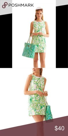 Lily dress Barely warn green & yellow summery or spring Lilly dress. Zips in the back. Lilly Pulitzer Dresses Midi