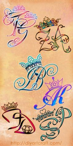 Poster 6 #monogram #crown #tattoo