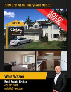 #SOLD  Congratulations to Wais Wazeri and to the new owners of Beautiful Updated Home Located in quiet and desired Marysville neighborhood just minutes from shopping and freeways.  MLS # 1093192