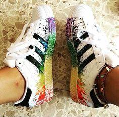 Adidas superstar custom paint phosphorescent
