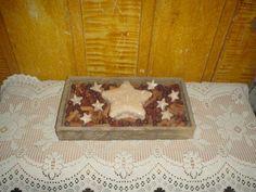 Primitive Barnwood Box * Star Candle *  Grubby Fixins w/Stars * EB 347 #NaivePrimitive