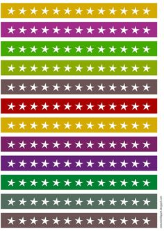 FREE printable star border sheet ^^