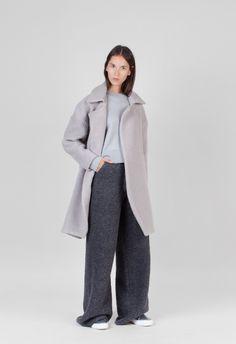 Charlie May Drop Shoulder Alpaca Coat Cement – Voo Store