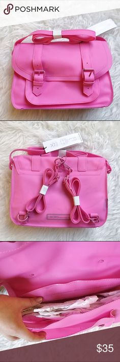 Bcbgeneration cosmic pink mini jelly bag Bcbgeneration cosmic pink mini jelly bag! It can be worn as a satchel or a backpack. Brand new with tags! Never been worn. Got it as a gift but not really my style. Hope it can find a better home! BCBGeneration Bags Crossbody Bags