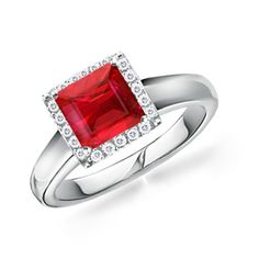 Something different for an engagement ring, love the square shape and red is my favorite color. Ditto.